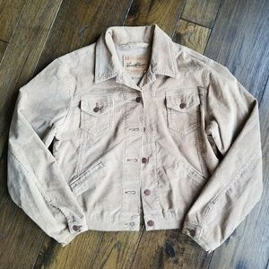 Levi Strauss Tan/Khaki Button Up Jean Jacket